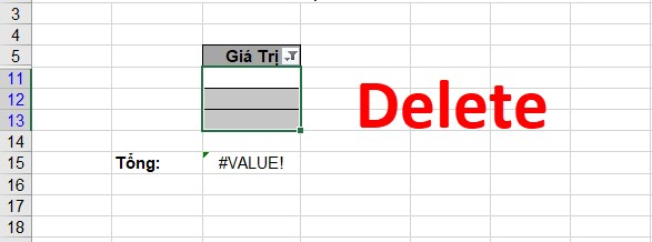 Cách sửa lỗi #value trong Excel. Hình 5