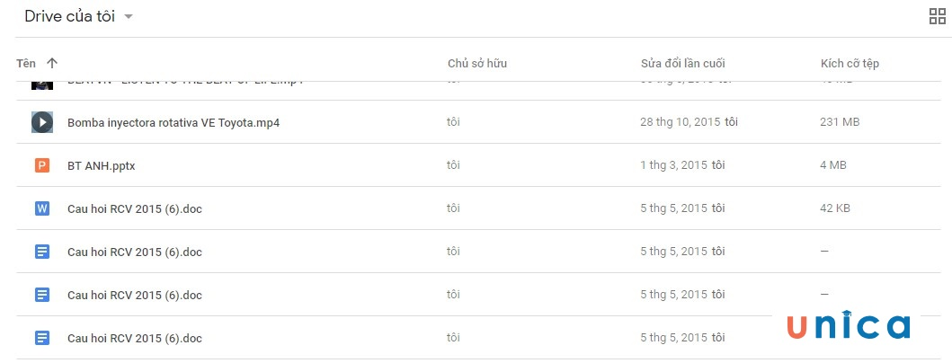 Cách tải file dữ liệu lên google drive. Hình 4