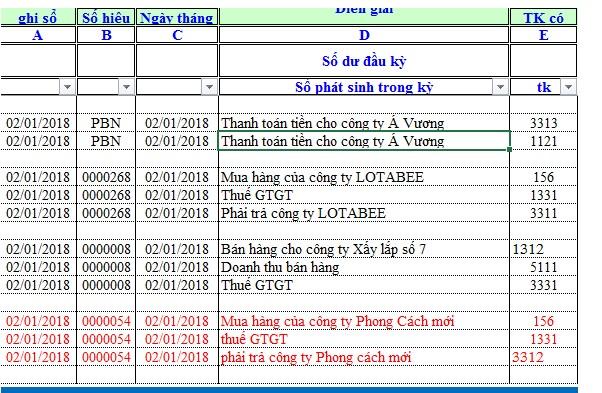 Mô tả cách xóa dòng trống trong Excel.Hình 1