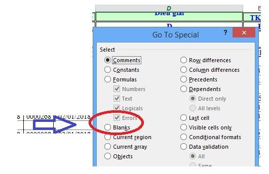 Mô tả cách xóa dòng trống trong Excel. Hình 3