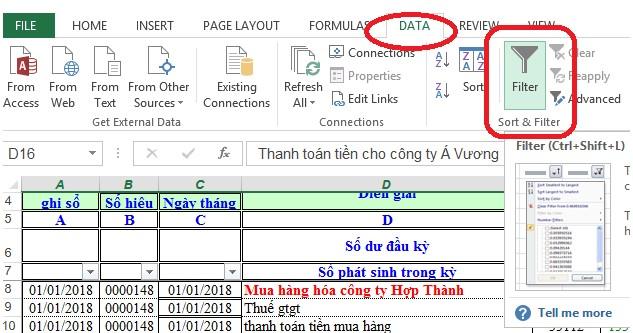 Mô tả cách xóa dòng trống trong Excel.Hình 5