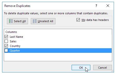 Cách sử dụng remove duplicate trong excel. Hình 4
