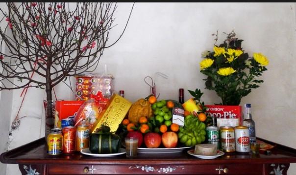 Cách cắm hoa để bàn thờ