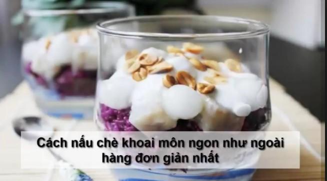 Cách làm chè khoai môn trân châu lá dứa