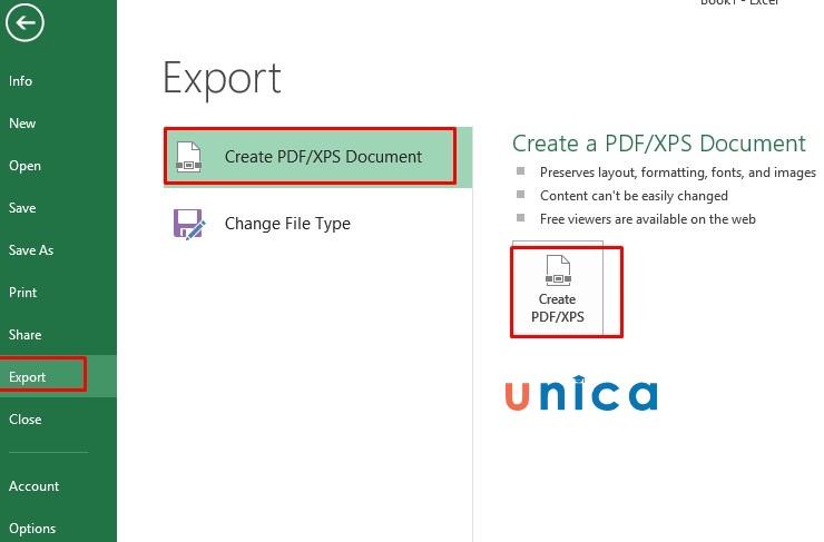 Mô tả cách chuyển file excel sang pdf nhanh chóng. Hình 4