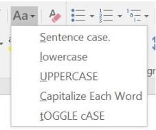 Cách đổi chữ thường thành chữ hoa trong Word