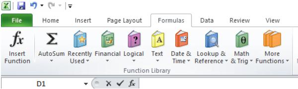 Các công thức trong Excel