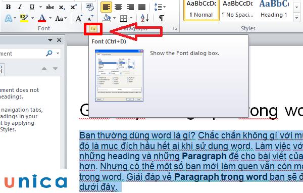 Căn chỉnh dãn chữ đều đặn trong word 1