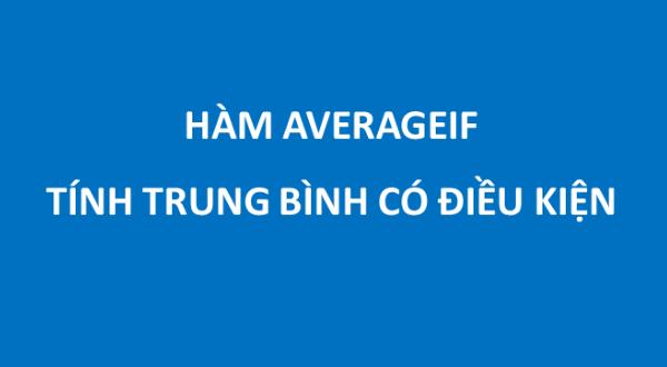 Cách sử dụng hàm averageif trong excel