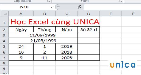 Cách sử dụng hàm datevalue chuyển đổi ngày tháng trong excel 1