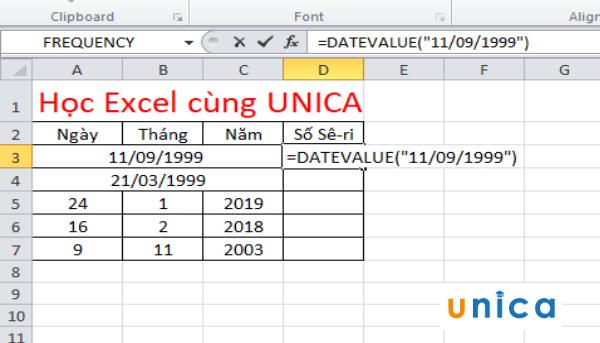 Cách sử dụng hàm datevalue chuyển đổi ngày tháng trong excel 2
