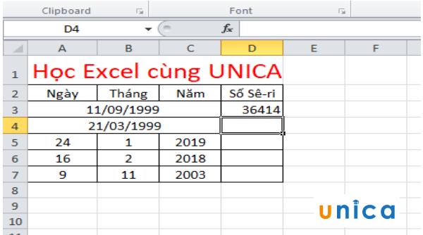 Cách sử dụng hàm datevalue chuyển đổi ngày tháng trong excel 3