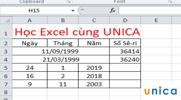 Cách sử dụng hàm datevalue chuyển đổi ngày tháng trong excel 4