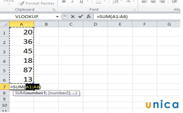 Cách sử dụng hàm sum trong excel 3