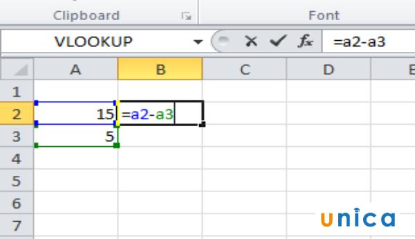 Cách dùng hàm trừ trong excel 2