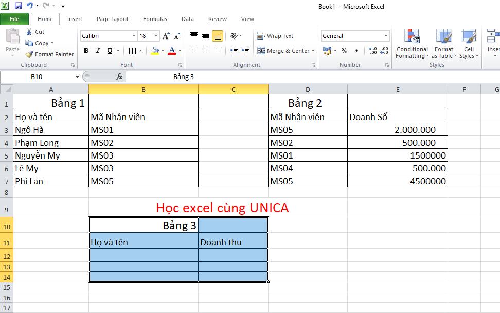 Ví dụ kết hợp hàm sumif với hàm vlookup 1