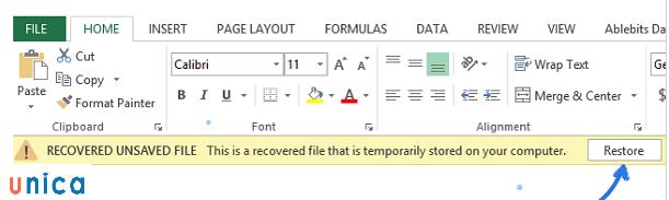 Thủ thuật lấy lại file excel chưa lưu - 6