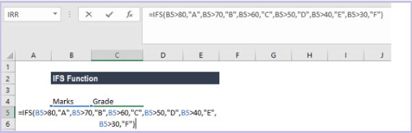 Cách sử dụng hàm ifs trong Excel 1