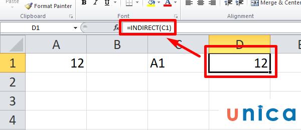 Cách dùng hàm Indirect trong Excel 1