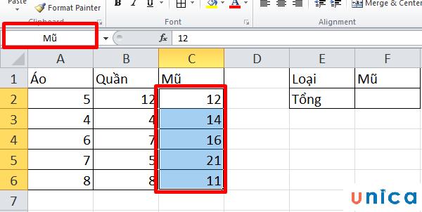 Cách dùng hàm Indirect trong Excel 4