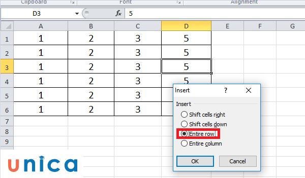 Cách thêm hàng trong Excel