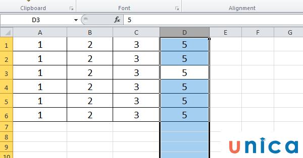Dùng tổ hợp phím để thêm hàng thêm cột trong Excel