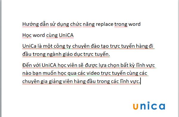 Cách dùng chức năng replace trong word 2