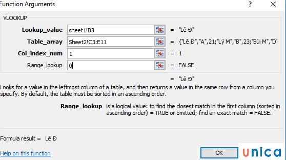 Lọc dữ liệu trùng nhau từ 2 sheet trong excel