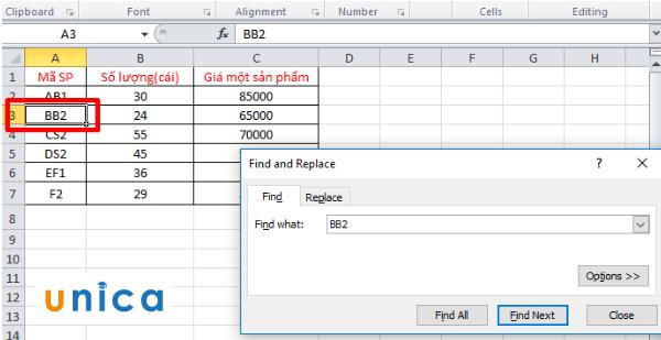 Cách tìm kiếm trong Excel 3