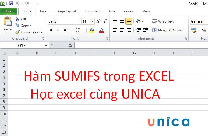 Cách sử dụng hàm sumifs trong excel 1