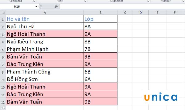 Cách tìm lọc và xóa dữ liệu trùng lặp trong Excel 4