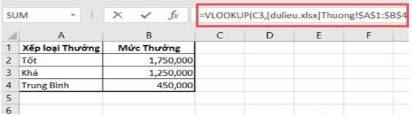 Áp dụng hàm Vlookup giữa 2 file 4