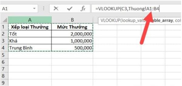 Áp dụng hàm Vlookup giữa 2 sheet 3
