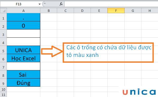 Cách sử dụng hàm countblank trong excel 7