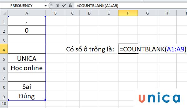 Cách sử dụng hàm countblank trong excel 2