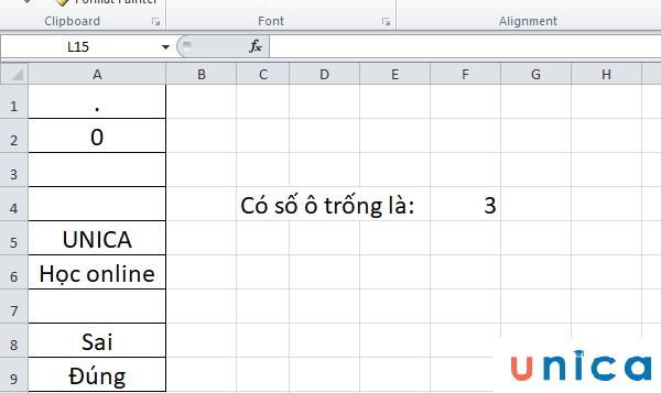Cách sử dụng hàm countblank trong excel 3