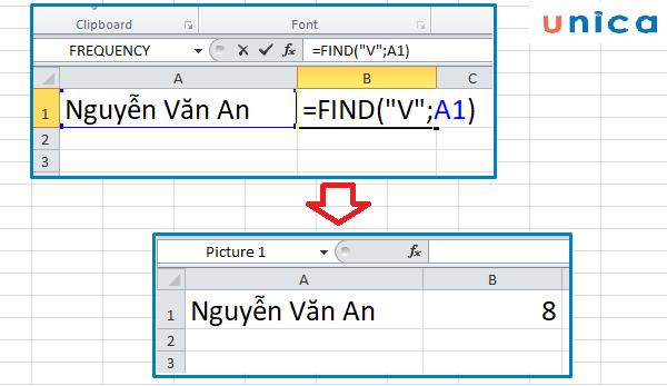 Cách sử dụng hàm Find trong excel 1