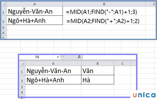 Cách sử dụng hàm Find trong excel 3