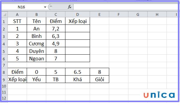 Cách sử dụng hàm Hlookup trong excel 2