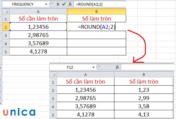 Cách sử dụng hàm Round trong Excel 3