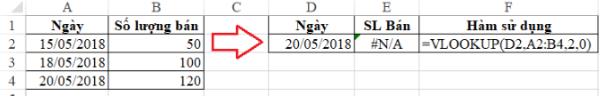 Xử lý lỗi #n/a trong Excel 3