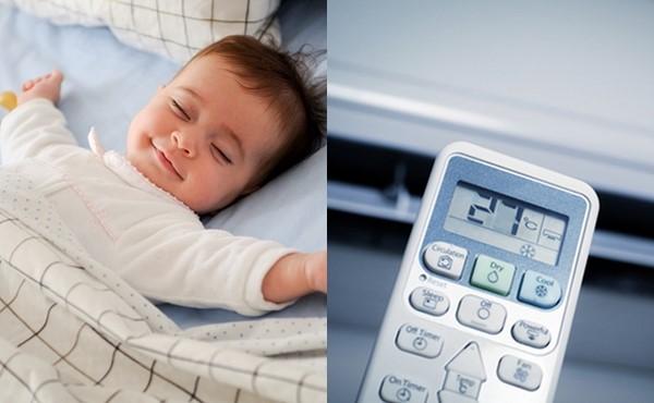 Cách dùng điều hòa cho trẻ sơ sinh an toàn nhất