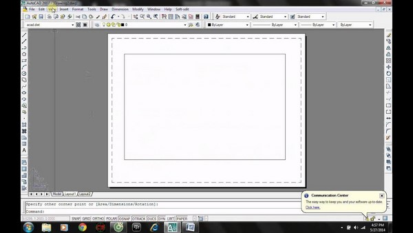 hướng dẫn cách tạo layout trong Cad