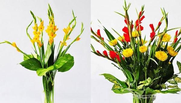 cách cắm hoa ngày tết