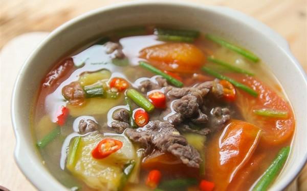 các món canh chua thịt bò
