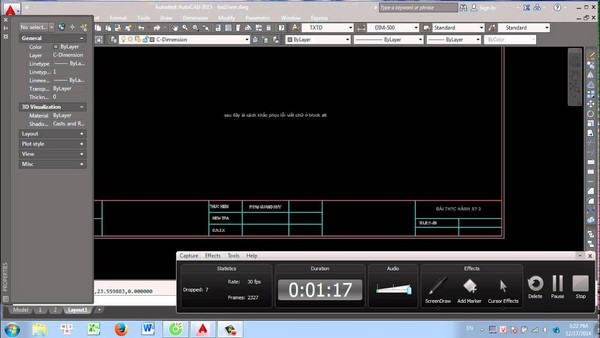 chỉnh sửa block attribute trong autocad