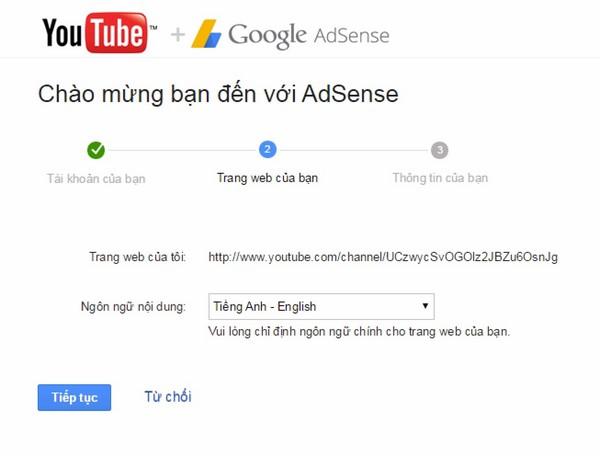 đăng ký Adsense cho kênh YouTube nhanh nhất