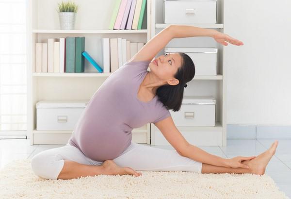bài tập cho bà bầu đau lưng khi mang thai