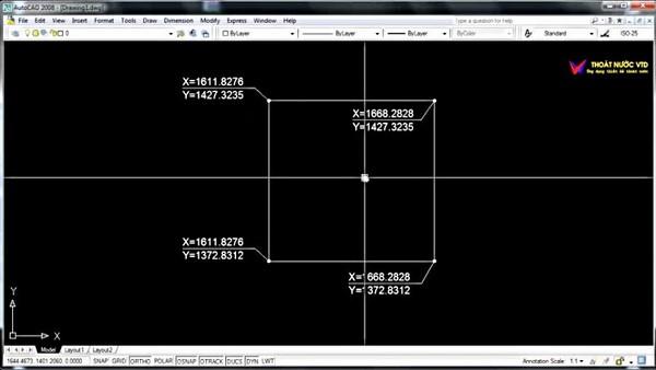 cách hiển thị tọa độ điểm trong Cad