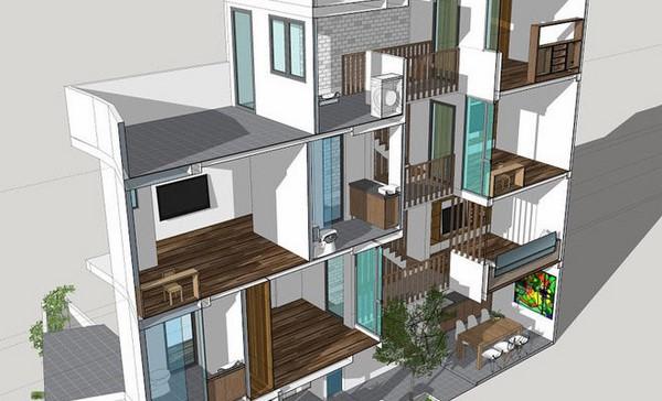 kinh nghiệm xây căn hộ mini cho thuê